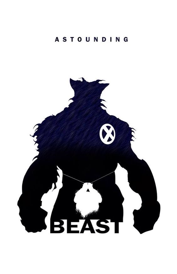 Superhero Silhouette: Beast