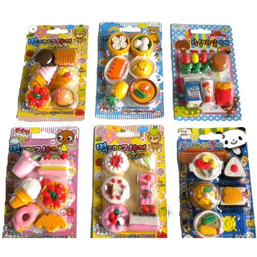 Amazon.com: 36 Pcs Cute Food Erasers Desserts Burger Drinks Cake Ice Cream Etc: Toys & Games