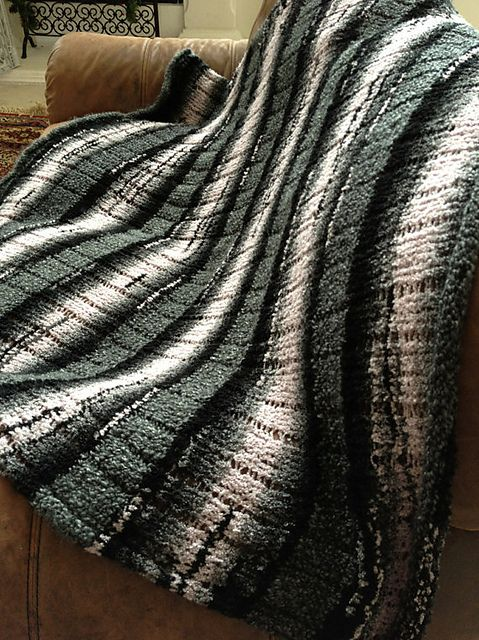 Striped Afghan Knitting Pattern : Striped Loom Knit Afghan pattern by Kristen Mangus Loom, Loom knit and Afgh...
