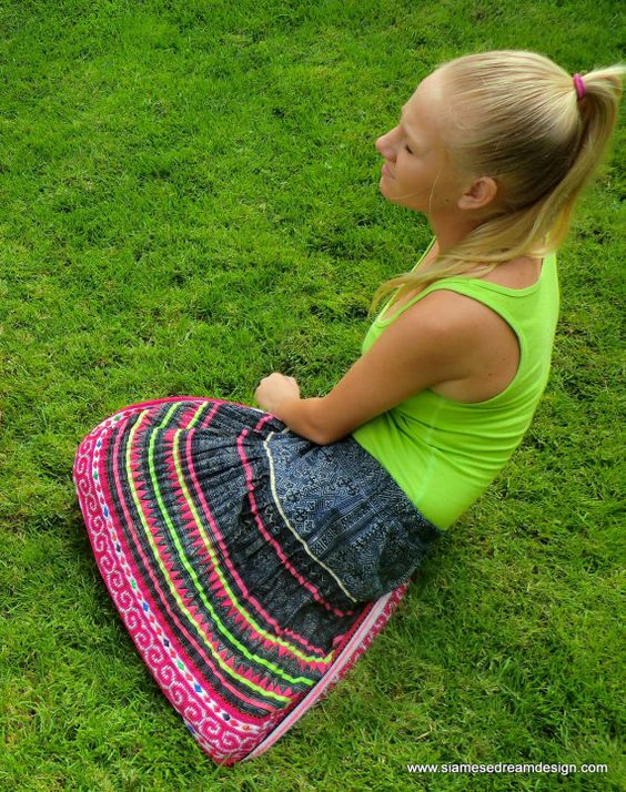 Womens Bohemian Skirt in Vintage Hmong Embroidery and Indigo Batik on Etsy, ¥7,446.81
