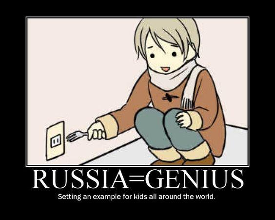 Russia= genius