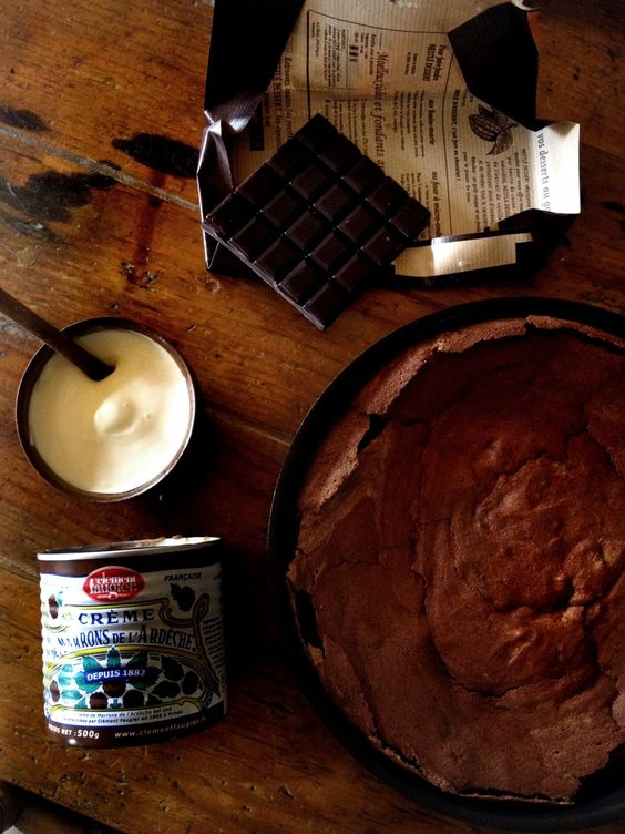 chocolate cake a la creme de marron