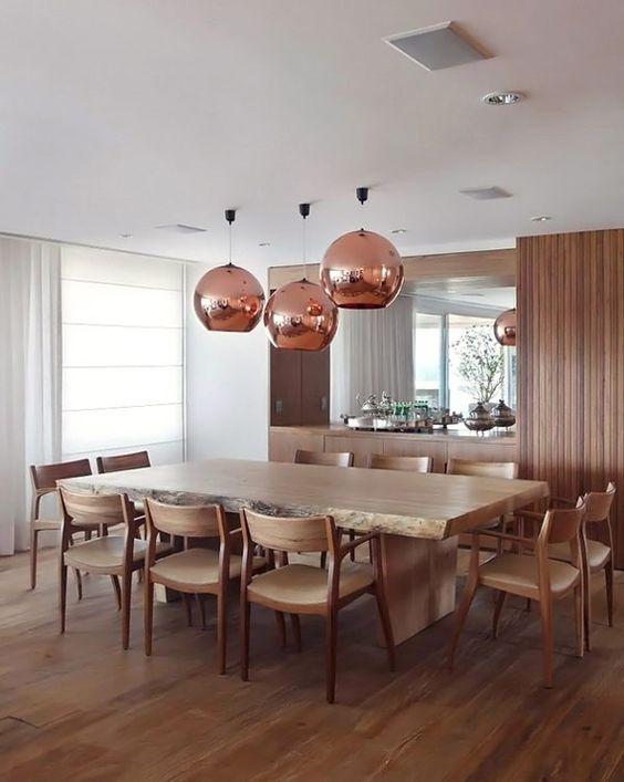 Sala De Jantar Rustica ~ Sala de jantar com mesa de madeira rústic