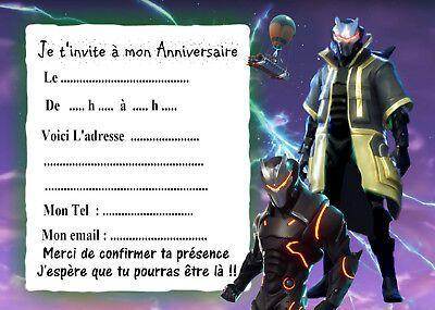 invitation anniversaire fortnite