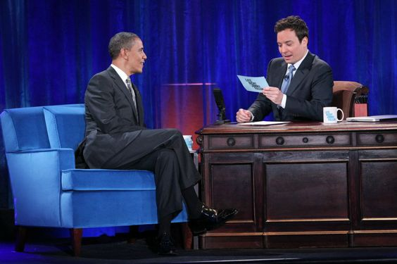 President Obama taking on twitter questions __ Photo Credit: Lloyd Bishop/NBCUniversal