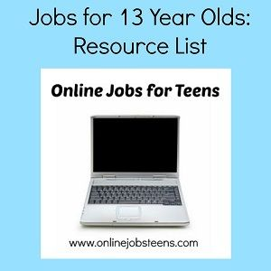 Jobs for 13 year olds list of jobs 13 year olds and find a job