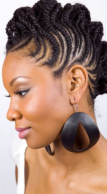 Terrific Braid Hairstyles Hairstyles And African Hair On Pinterest Short Hairstyles For Black Women Fulllsitofus