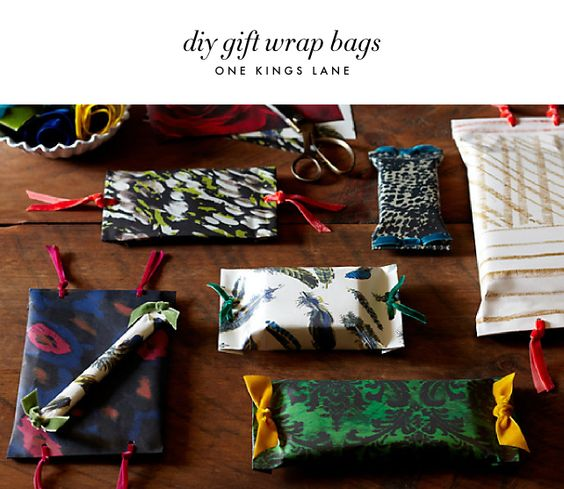 Holiday diy Gift Wrap Ideas