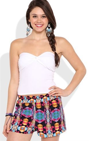 Deb Shops #cotton spandex twisted front bustier tube top $9.00
