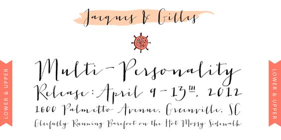 Good font: Jacques & Gilles by Emily Lime