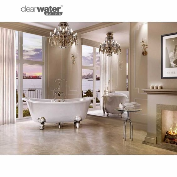 Traditional bath products natural stones and bathroom for Roll top bathroom ideas