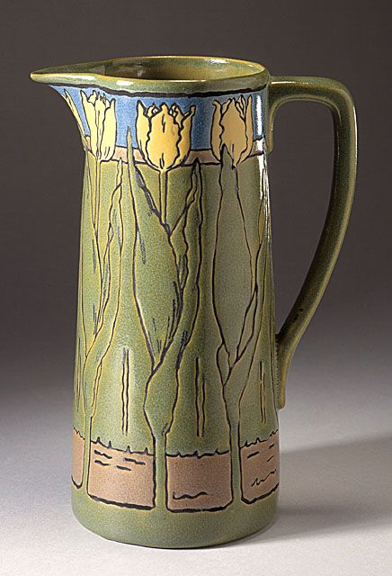 Sara Galner (United States, 1894 - 1982) , Paul Revere Pottery of the Saturday Evening Girls' Club (United States, Massachusetts, Boston, 1908 - 1942) Pitcher, 1914