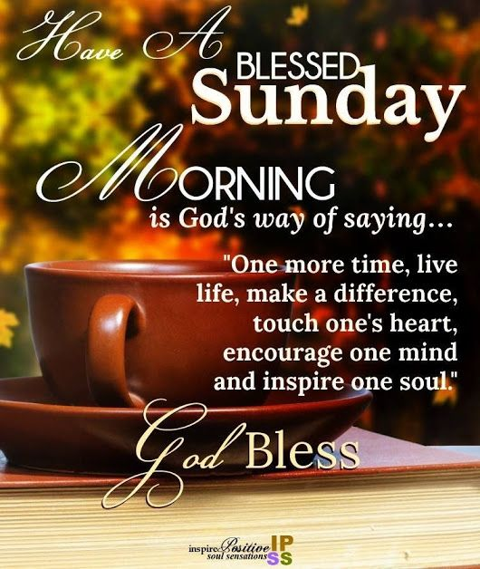 Sunday Blessings Inspiration | Happy sunday morning, Have a ...