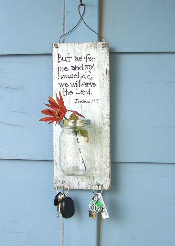 Mason Jar Wall Decor Pinterest : Mason jar wall decor christian hanging by