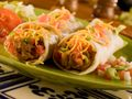 Vegetarian & kid friendly:  Bean and Green Chile Burritos.  The chile is pretty mild.