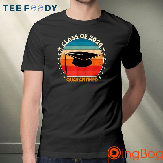 vintage Class of 2020 Quarantine Funny Graduation Senior Shirt- Gift Trending Design T Shirt