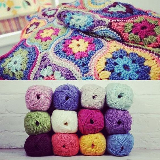 Bright, bold and beautiful - this Stylecraft crochet blanket is a must make this…