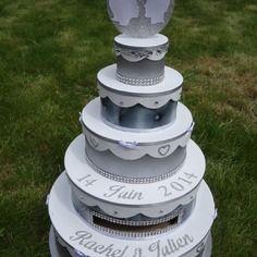 urne wedding cake urne wedding mariage urne brico gâteau de mariage ...