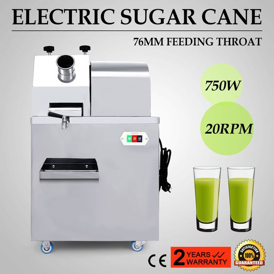Electric Sugar Cane Juicer 20Rpm 330Kg/H Productivity Stainless Steel Food Grade