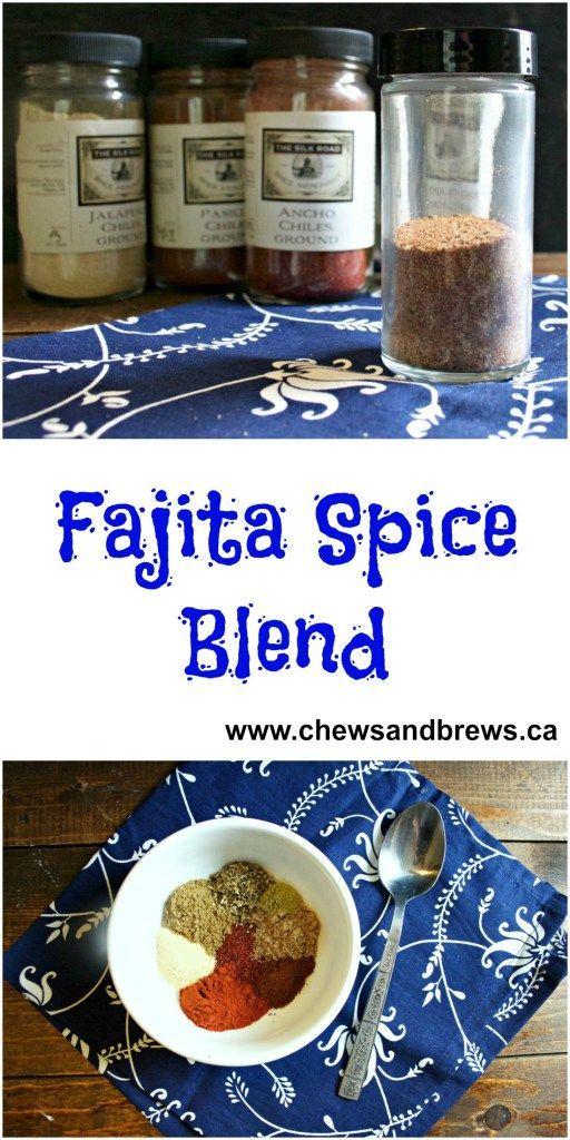 Fajita Spice Blend ~ www.chewsandbrews.ca