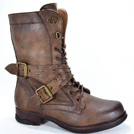"Bottines ""menaka"", marron taille 36 - Femme / Chaussures - sandales - bottes"