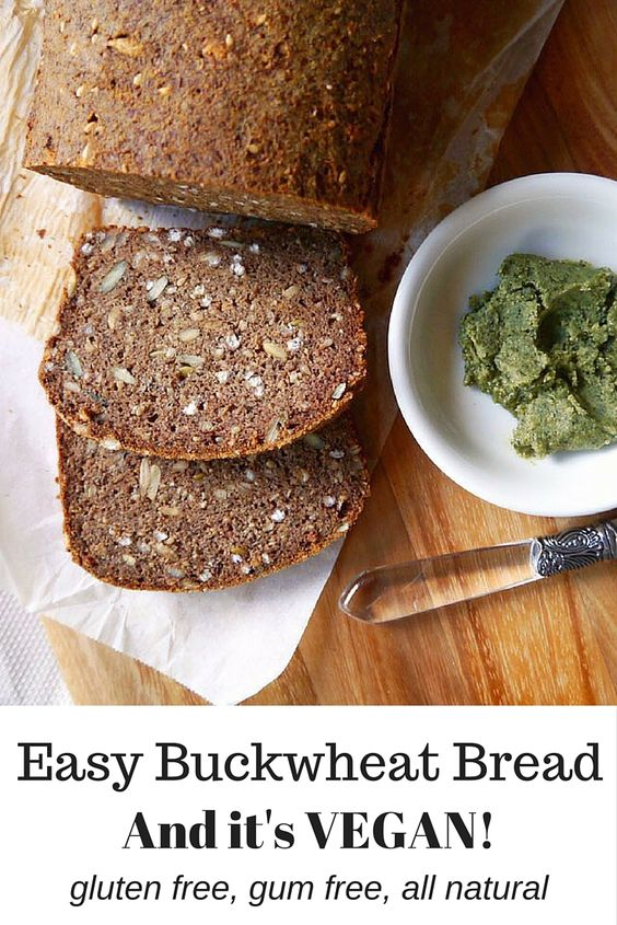 Vegan Buckwheat Bread by Nourish Everyday - one of my most popular blog recipes of all time, it's so good and so easy! A healthy recipe for bread made vegan and gluten-free using chia seeds, buckwheat flour and almond meal.
