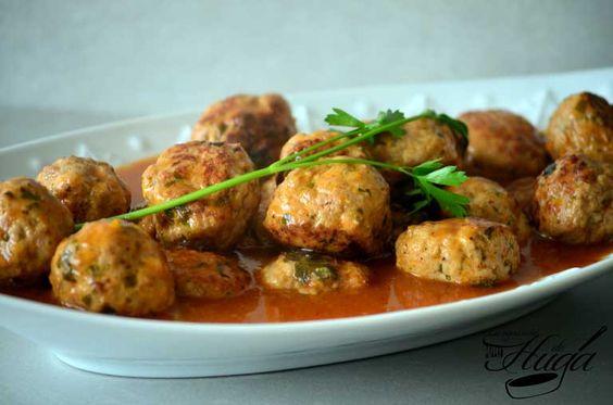 Albóndigas en salsa (tradicionales) - Las mejores recetas de Huga