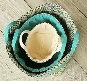 Indygo Junction's Banded Baskets pattern ($9.99).