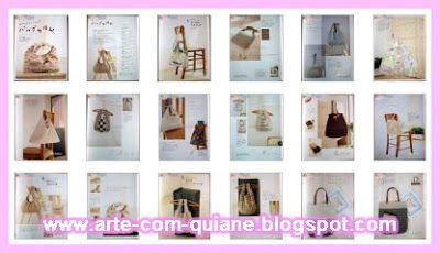 ARTESANATO COM QUIANE - Paps,Moldes,E.V.A,Feltro,Costuras,Fofuchas 3D: moldes de bolsas...muitos moldes