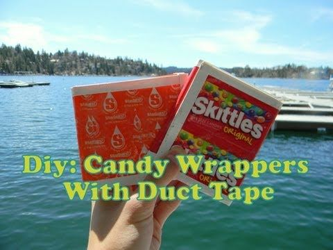 How To Make Candy Wrapper Crafts With Duct Tape (Candy Wrapper Base) - YouTube