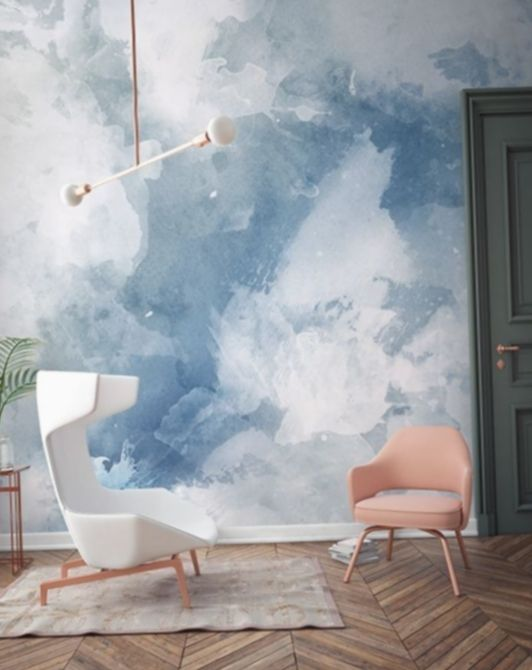 Create A Beautifully Serene Space With These Sunset Wallpaper Ideas For A Cute Girl Feature Wall Bedroom Cloud Wallpaper Bedroom Wallpaper Bedroom Feature Wall
