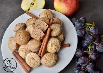 Almáspite és mézeskalács ízű vegán gyümölcs muffin (gluténmentes, tejmentes, tojásmentes, zsírszegény, édesítőszermentes) ~ Éhezésmentes Karcsúság Szafival
