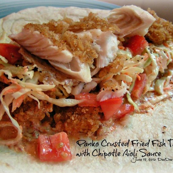 Fried Fish Taco with Chipotle Aioli Sauce