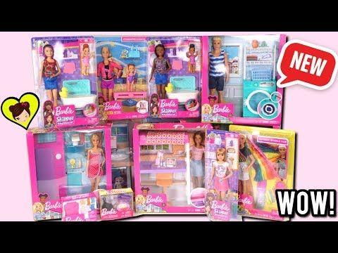 Abriendo Nuevos Juguetes De Barbie Unicornio Bano Lavadora De