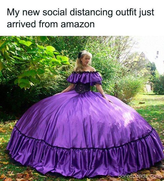 What an amazing corona virus dress! lol