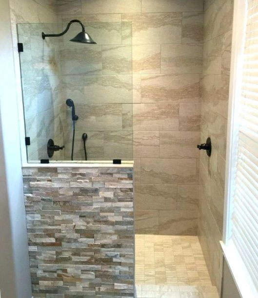 21 Small Walk in Shower Ideas No Door | Home Interiors | Shower
