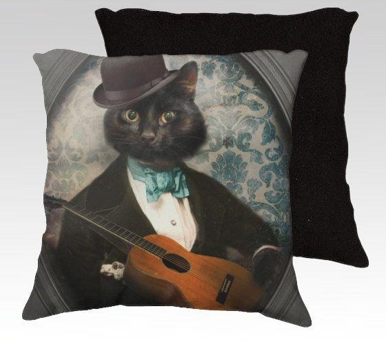 Chat taie oreiller chat noir chat oreiller couverture coussins décoratifs…