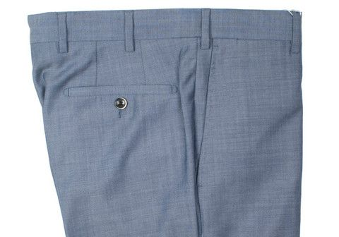 Howard Yount blue nailhead wool trousers