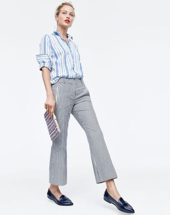 What goes best with J.Crew stripes? More stripes. So chic and classic!