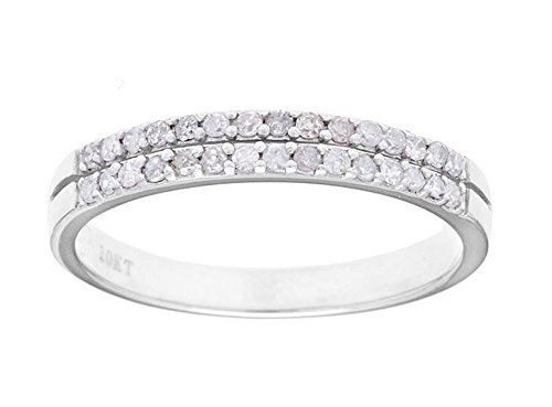 This Unique Ring Features Two Rows Of Pave Set Fiery White Diamonds This Beautifully Detaile Diamond Wedding Bands Wedding Ring Bands Anniversary Wedding Band