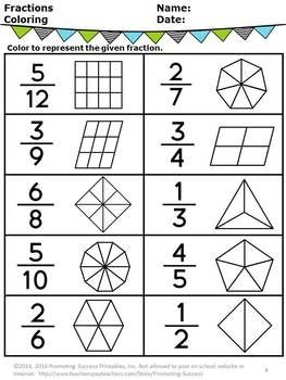 Free Fractions Pictures 2nd 3rd Grade Fractions Review F Fractions Worksheets Math Fractions Worksheets 3rd Grade Math Worksheets