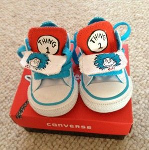 Infants Converse Size UK 3 Dr Seuss Thing 1 And 2.   eBay