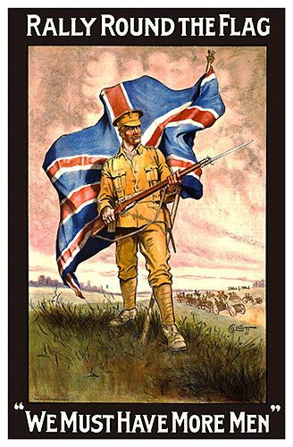 British World War I propaganda poster