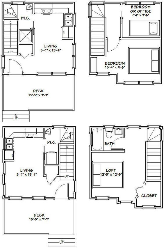 16x16 tiny houses pdf floor plans 466 sq ft 463 sq for 16 x 32 floor plan
