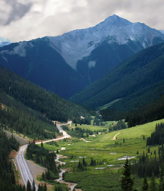 Million Dollar Highway, Silverton To Ouray Colorado. There