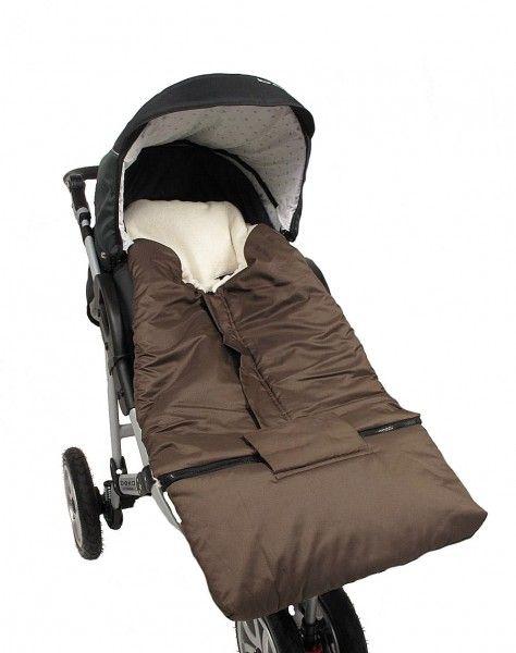 Kinderwagenfußsack braun von HOBEA-Germany für kalte Tage im Herbst oder Winter mit abnehmbarem Fußteil!  #footmuff #footbag #fußsack #stroller #baby #kinderwagen #erstausstattung