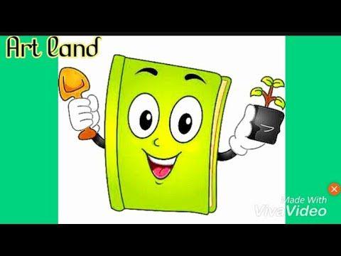 تعلم رسم كتاب بطريقه سهله رسومات سهله Easy Book Drawing Encouraging For Tree Planting Youtube Art Character Disney Characters