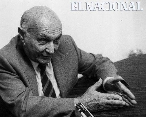 """Joan Pujol García, alias """"Garbo"""". Doble agente español al servicio de los británicos en la segunda guerra mundial. Caracas, 23-06-1986 (PEDRO GARRIDO / ARCHIVO EL NACIONAL)"""