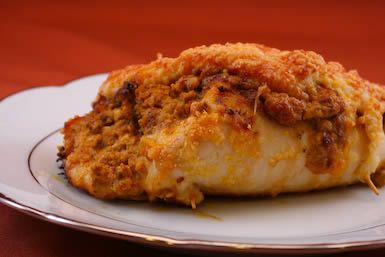 South Beach Diet site - good recipes even if not dieting.  (Baked chicken with dried tomatoes and goat cheese)