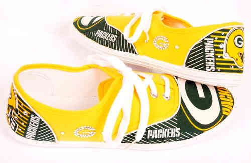 Women's Green Bay Packers Canvas Lace Up